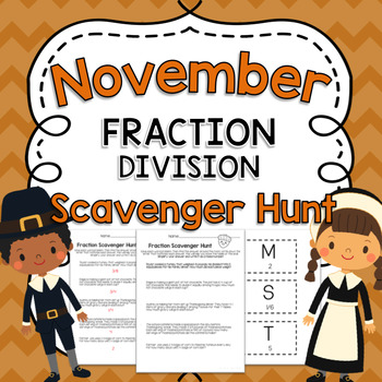 November Fraction Division Word Problem Activity
