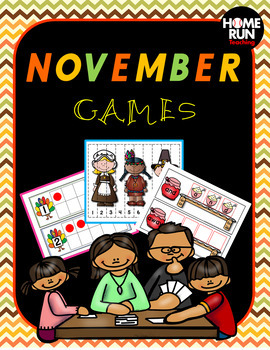 November Games, literacy and math centers, Thanksgiving, s