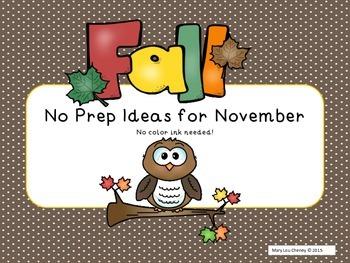 November Ideas