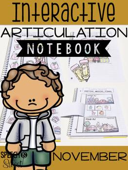 November Interactive Articulation Notebook