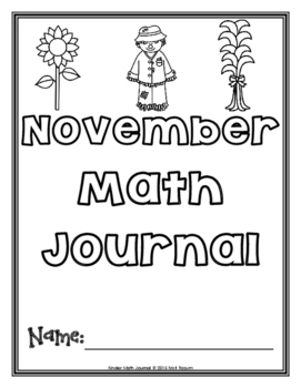 November Kinder Math Journal