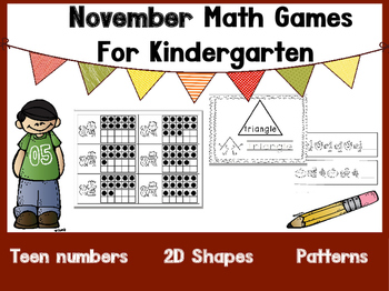 November Kindergarten Math Games