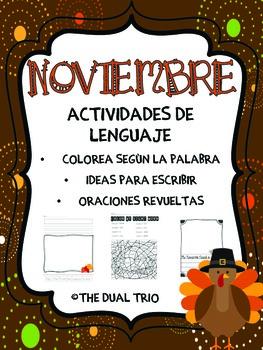 November Literacy Activities- Spanish