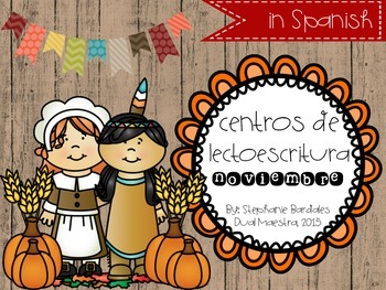 November Literacy Centers in Spanish