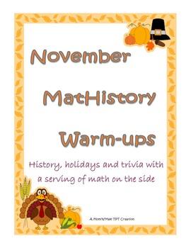 November MatHistory Warm-ups