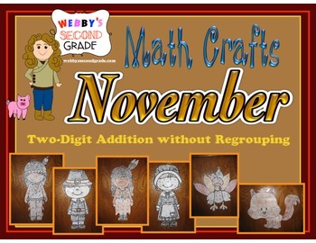 November Math Crafts Adding Two-Digit Numbers without Regrouping