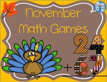 November Math Games Bundle: 2 & 3 Digit Addition and Facts