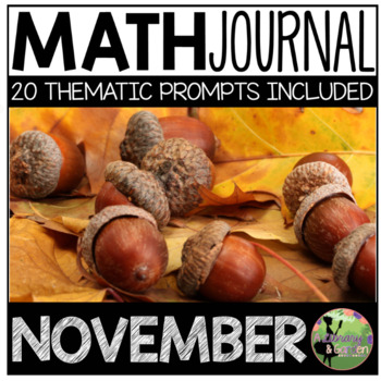 November Math Journal (Kindergarten - Common Core)