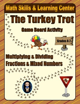 Thanksgiving Math Skills & Learning Center (Multiply & Div
