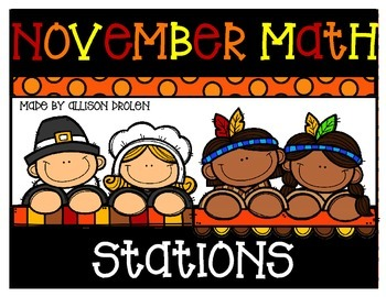November Math Stations