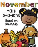 November Math Stations {Based on BUILD}