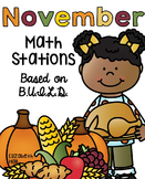 November Math Stations {Based on BUILD}