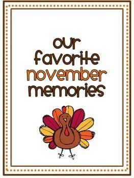 November Memory Writing Prompt