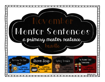November Mentor Sentence Bundle
