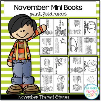 November Mini Books...Just Print, Fold, Read