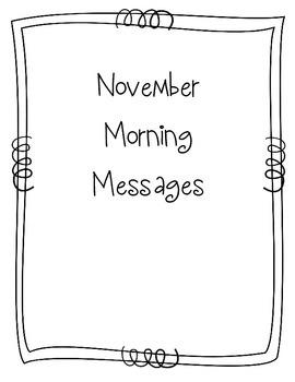 November Morning Message Book