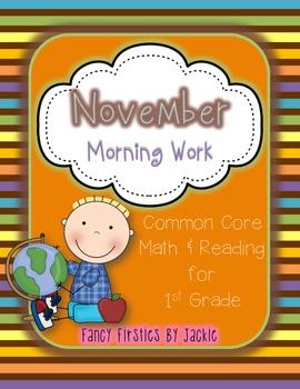 November Morning Work -- 1st Grade
