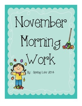 November Morning Work - Literacy and Math Review