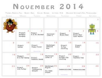 November NSCC Craftivity Kit Printables!
