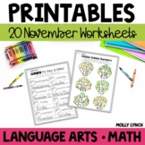 November NO PREP Printables!