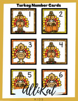 November Number Cards