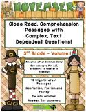 November 3rd Grade Common Core Close Read with Complex Tex