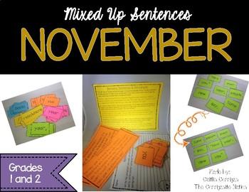 November Mixed Up Sentences