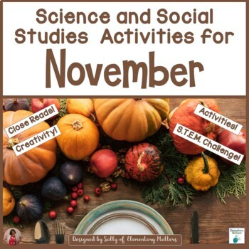 November Science and Social Studies Printables - Second Grade