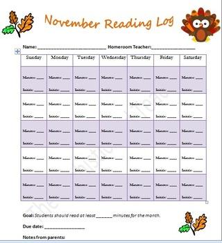 November Reading Log