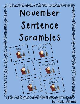 November Scrambled Sentences