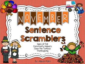 November Sentence Scramblers