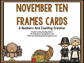November Ten Frame Cards!  A Common Core Math Creation!