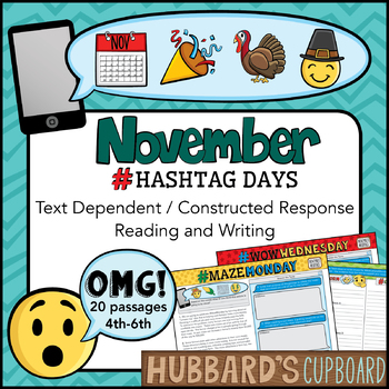November Text Dependent (4th- 7th) / Constructed Response