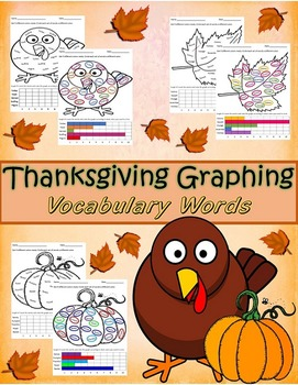 November Thanksgiving Graphing Vocabulary / Spelling Words