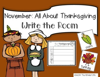 November: Thanksgiving Write the Room + 2 Bonus Activites