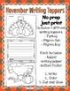 November Thanksgiving Writing Toppers No Prep Turkey Pilgr