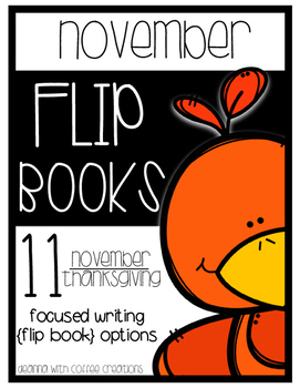 November Themed Writing Flip-Books {11 options!}