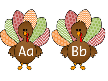 November Turkey A-Z Letter Tags