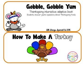 November/Turkey Interactive Adaptive Books