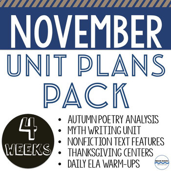 November Unit Plans Pack - 5 units and lessons to teach al