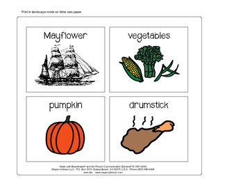 November Vocabulary Cards