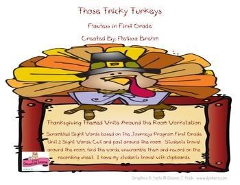 November Write Around the Room Workstation: Thanksgiving Themed
