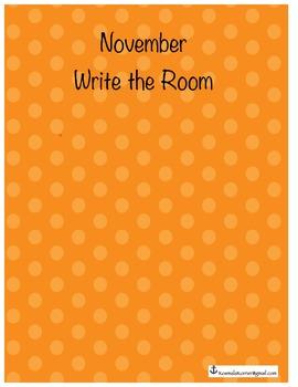 November Write The Room Printables