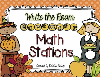 November Write the Room Math Stations