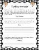 November Writing Activities for First Grade Common Core