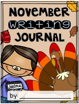 November Writing Journal {3 different levels}
