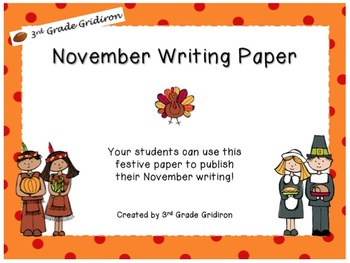 November Writing Paper Pack