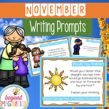 November Writing Prompts | Fall | Veterans Day | Family St