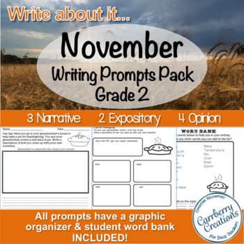 Writing Prompts 2nd Grade : November