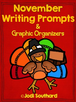 November Writing Prompts and Organizers